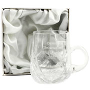 Engraved Crystal Baby Cup in a Gift Box