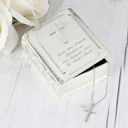 Personalised Engraved Silver Plated Bible Trinket Box