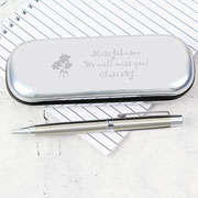 Personalised Engraved Flowers Pen and Box Set