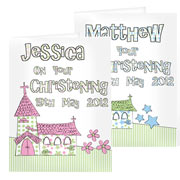 Personalised Church Card - Pink or Blue - Free Delivery