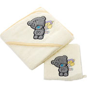 Tatty Teddy Hooded Towel and Bath Mitts