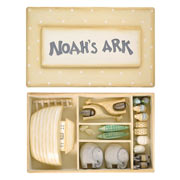 East of India Wooden Little Handmade Noahs Ark Set in a Box