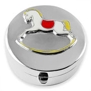 Sterling Silver and Enamel Rocking Horse Tooth Box