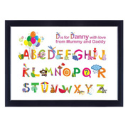 Personalised Alphabet Poster (Framed)