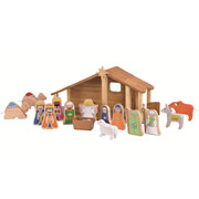 Large Bamboo Nativity Set