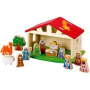 Wooden Nativity Scene by EverEarth