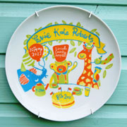 Personalised Baby Plate - Jungle