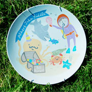 Personalised Baby Plate - Under the Sea