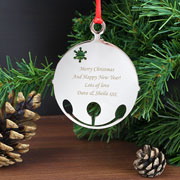 Engraved Bauble Tree Decoration