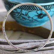 Personalised Silver Childrens/Baby Bangle