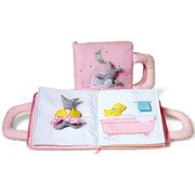 Good Night Bunny Pink Fabric Book by Oskar and Ellen