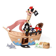 Jolly Roger Pirate Ship Play Set by Oskar and Ellen