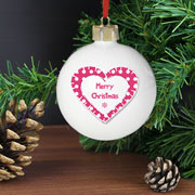 Personalised Christmas Bauble (Nordic Style Heart)