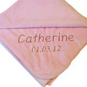 Luxury Soft Personalised Baby Blanket