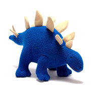 Electric Blue Knitted Stegosaurus