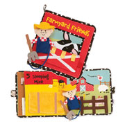 Farmyard Friends Soft Activity Book by Manhattan Toy