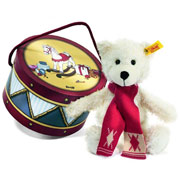Steiff Charly Dangling Teddy Bear in Drum Box