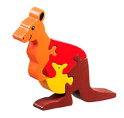 Lanka Kade Fair Trade Wooden Kangaroo and Joey Jigsaw Puzzle