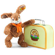 Steiff Jolly Dangling Rabbit in Suitcase