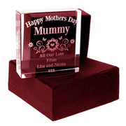 Engraved Mothers Day Glass Block