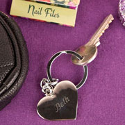 Engraved Heart Keyring