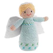 'Pebble' Fair Trade Knitted Angel Rattle