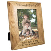 Engraved Oak Grandchildren Frame - 5 x 7 Inch