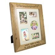 Engraved Oak Grandchildren Frame - 10 x 8 Inch