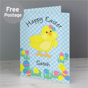 Personalised Happy Easter Chick Card - Free Delivery