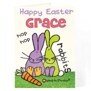Bang on the Door Easter Card - Free Delivery