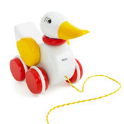 Brio Pull Along Duck - White