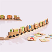 Personalised Bamboo Name Train