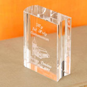 Engraved Miniature Crystal Bible Church Design