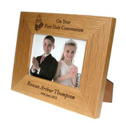 Oak Holy Communion Frame Landscape