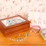 Personalised Lords Prayer Girls Musical Wooden Jewellery Box