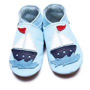Inch Blue Sail Boat Baby Shoes