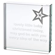 Medium Christening Paperweight With Free Spaceform Gift Bag