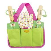 Girls Pink Personalised Gardening Tool Kit