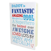 Daddy Is..... Hardbacked Personalised A5 Notebook