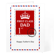 Personalised Fathers Day 1st Class Card