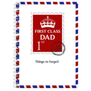 Personalised Father's Day 1st Class Notebook - Free Delivery