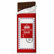Personalised Father's Day 1st Class Chocolate Bar - Free Del