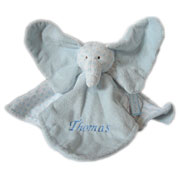 Personalised Big Ears Baby Blankie Elephant