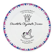 Royal Baby Bunting Birth Celebration Plate