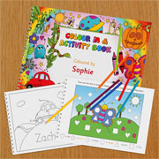 Children's A4 Personalised Colour In Activity Book