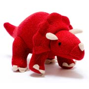 Red Knitted Triceratops