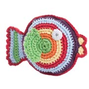 Pebble Fair Trade Crochet Fish Rattle