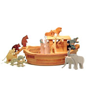 Giant Ostheimer Hand Crafted Noah's Ark and Characters