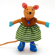 Fair Trade Large Mouse in Dress