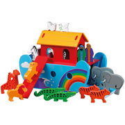 Fair Trade Wooden Rainbow Noahs Ark by Lanka Kade